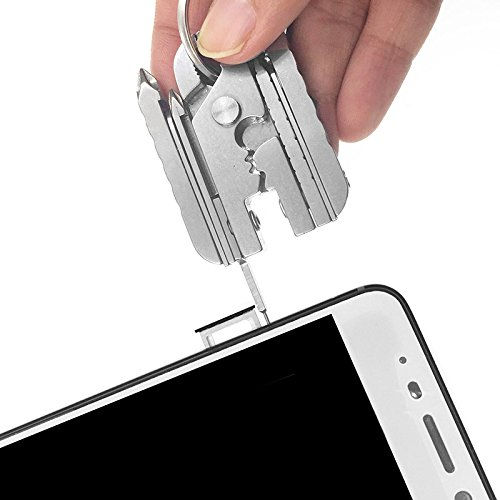 Pocket Utility Multitool Knife 15-in-1 Multi-Purpose Tacklife With Sim Card Removal Tool Pin Ejector, Pocket Pliers,Multifunctional,Screwdriver.Stainless Steel Pocket Multi Tool Set.
