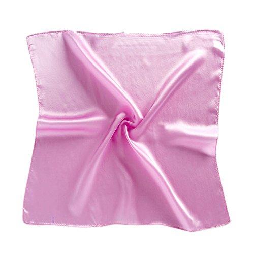 HIDOUYAL Schal, quadratisch, mehrfarbig, OL, klassisch, 52 x 52 cm, einfarbig Gr. Einheitsgröße, Pink