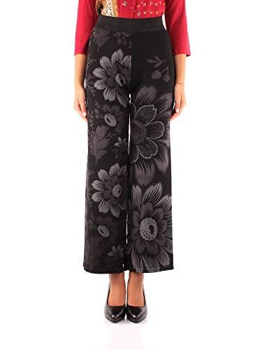 Desigual Damen Trousers LUA Freizeithosen, Negro, X-Groß