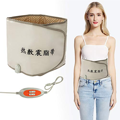 Waist Trimmer Belt, Hot Compress Far Infrared Heating Slimming Belt Vibrating Weight Loss Massager Fitness Device, Slimming Body Shaper Belt, Best Abdominal Trainer(US)