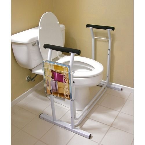 Deluxe Toilet Safety Rack Support Frame Support Assist Safe Bathroom Handles NEW
