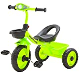 Baybee Flash Light Children Tricycles for Kids with Back Basket Red Colour Ba