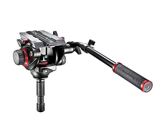 Manfrotto 504HD Testa Serie 504 con Attaco Rapido con Controbilanciemento a 4 Step, a 7.5 kg per Video con DSLR e Videocamere, in Alluminio, Nero