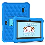 Tablet per Bambini 2 a 12 anni Android 10.0 (Certificato da Google GMS)- Tablet 7 Pollici Quad Core 2GB RAM 32GB ROM Kid-Proof Custodia - Google Play e Gioco Educativo (Blu)