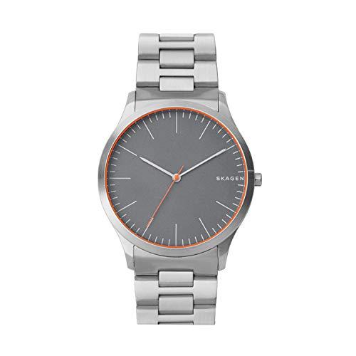 Skagen - Herren Quarz Analog Jorn Uhr mit Edelstahlarmband, Silber, 9 (Modell: SKW6423)