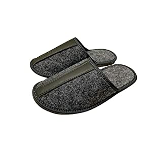 Grau Chwarz Men House Schuhe handgefertigt mit Fitz und rutschfesten Gummi natürlichen bequemen Schuhen