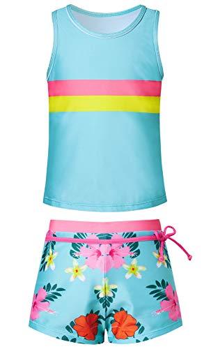 Cutemile Kinder Niedlichen Badeanzug Sport Tankini Teen Mädchen Blumendruck Modedesign Weiche Badeanzüge Badebekleidung Für Draussen Strand Surfen Ferien