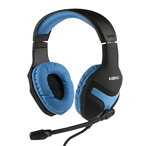 Konix PS-400 gaming headset, PS4, compatibel met Xbox One, PC, tablet, smartphone - hoge audiokwaliteit - gamerheadset met microfoon