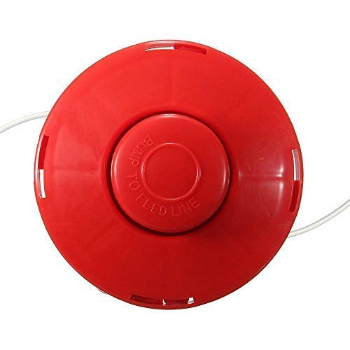 1Pcs Universal 2 Line Bump Plastico Strimmer Cabeza Cortadores De Corte De Hierba Céspedes Jardin Patio Desbrozadora Rojo