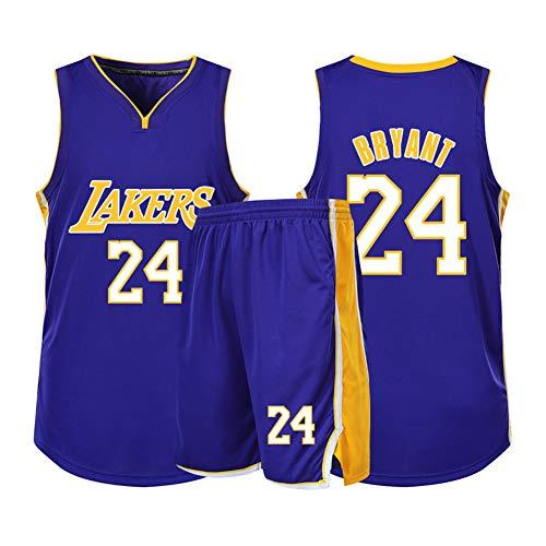 Juego de camiseta de baloncesto de Kobe Lakers para hombre y mujer, 2 piezas, secado rápido, camiseta y pantalones cortos, Neutral, Hombre, color color, tamaño M (155/160 cm)