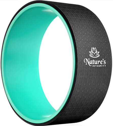 Nature's Integrity Yoga Wheel 13' [Elite Series] - for Stretching, Back Pain, Improving Backbends - Dharma Yoga Circle Ring, Back Stretcher, Spine Roller - Eco-Friendly - Bonus Pose Guide Included