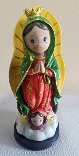 """Lady of Guadalupe Virgen Virgencita Night Light Statue Lamp Candle Bautizo Religious Party Favor Decoration 12"""" high"""