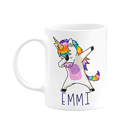 Personalized Coffee Mugs, Dabbing Unicorn Coffee Mug with Name, 11 oz - Gifts for Women, Gifts for Kids, Birthday Gifts, Christmas Gifts, Tazas Personalizadas, Monogram Novelty Mug, Great Gift Idea
