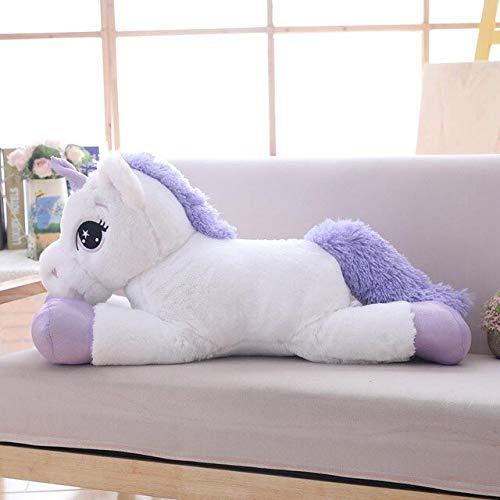 Mhtop Peluche Unicornio Gigante Animal de Peluche muñeca Suave tamaño Grande Unicornio Almohada de Felpa Juguetes para niños cumpleaños Mujeres
