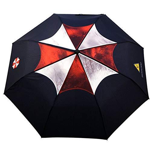 Resident Evil Umbrella Corporation Regenschirm Automatische Taschenschirm Kompakt