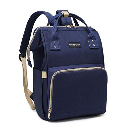 Motherly Diaper Bags for Mom Travel Basic Edition (Navy Blue,Pack of 1)