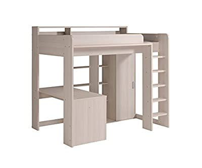 Parisot Higher Kids High Sleeper Bed with Desk & Wardrobe