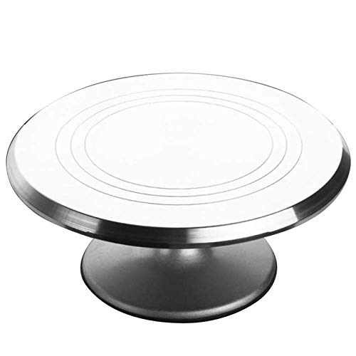 VIVILINEN Aluminium Alloy Revolving Cake Stand 12 Inch Rotating Cake Turntable for Cake Cupcake Decorating Supplies