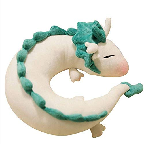 Knuffel wit paard 28cm schattige pop gevuld knuffelkussen kleine witte draak U-vormig kussen