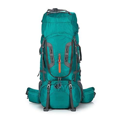 Outdoor 80L große Kapazität Camping Trekking Rucksack Multifunktions Wandern Bergsteigen Rucksack Unisex Reise Klettern Taschen Lake Blue 69 x 37 x 13 cm