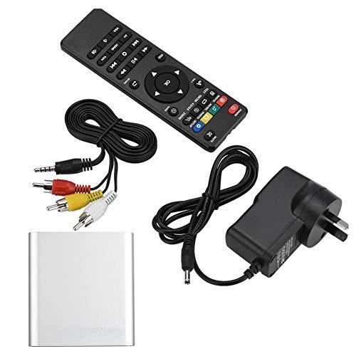 Media Player, Stereo Sound Mini HD Media Player HD Media Player, Amplia compatibilidad para TV(Transl, Silver, European regulations)