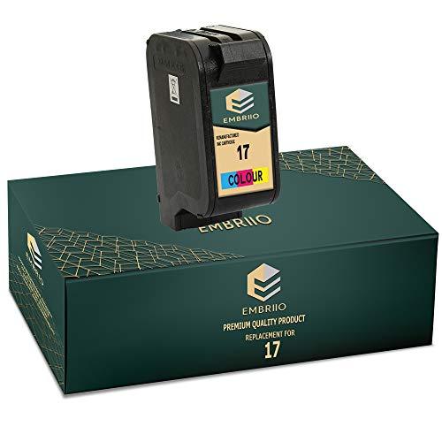 EMBRIIO 17 Color Cartucho de Tinta Reemplazo para HP Deskjet 816c 825c 827 840c 841c 842c 843c 845c 845cvr 848c