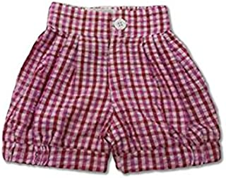 Allegra and Harvey Lucy Bloomer Seersucker Shorts Pink/Red (Shorts only)