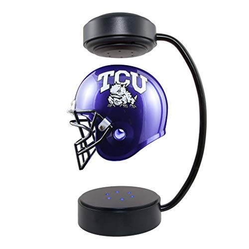 TCU Horned Frogs NCAA Hover Helmet - Collectible Levitating Football Helmet with Electromagnetic Stand