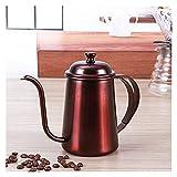 Coffee Pots Gotea Coffee Pot Playa Kettle de té 650 ml de espesor 304 Café de goteo de acero inoxidable (Color : A, Size : 9.5x16.5cm)