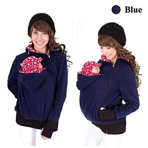 Mehrzweck-Damen-Pullover, für Herbst und Winter, warm, für Mutter und Kind, multifunktional, beweglich, Schlafsack, Känguru-Pullover, Wimpelkette, für Mutter und Baby