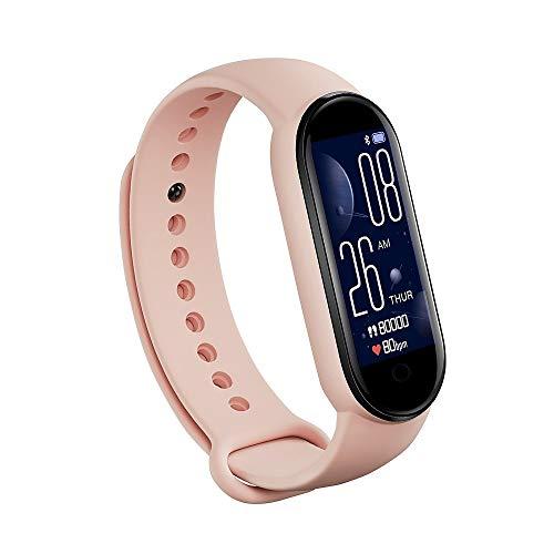 M5 Fitness Tracker, Smart Sport Band Tracker de actividad con monitor de presión arterial de frecuencia cardíaca, IP67 pulsera impermeable con cámara remota, pulsera Bluthtooth para hombres y mujeres