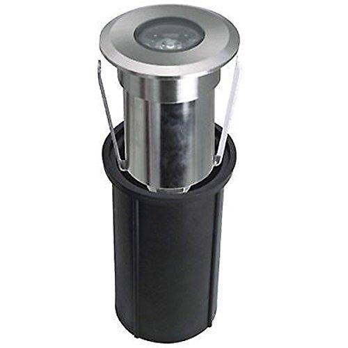 LineteckLED® - 1A Faretto led segnapasso rotondo da incasso 2W 12V 6500K luce fredda 180 lumen IP65 per esterno - faro da immersione - luci colorate per piscina