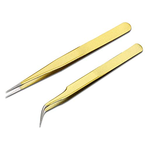 Jinxuny Pinces à Cils Pinces à greffer Les Cils, Pinces à épiler Professionnelles en Acier Inoxydable pour greffe de Cils (Style : Straight Eyelash Tweezers)
