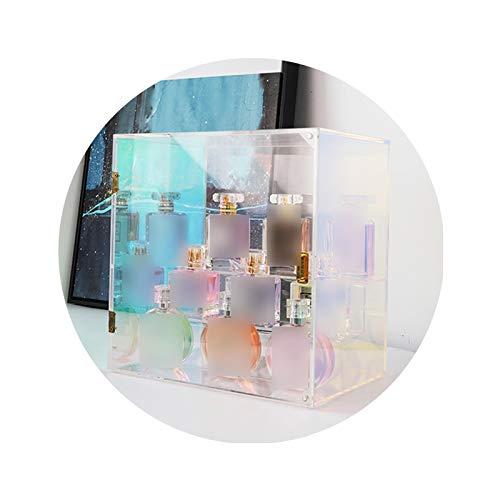 XINGLL Vitrine Acrylique Voiture, Boîte Protection Anti-poussière Transparente Pour Les Parfums Cosmétiques, Figurines Collection, Jouets Poupée, Stockage Bijoux ( Color : Clear , Size : 26X27X19CM )