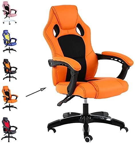 N&O Renovierungshaus Büromöbel Computerstuhl Student Freizeit Komfort Stuhl Atmungsaktiv Rotierender Gaming Stuhl Zuhause Büro Liegestuhl Aluminiumlegierung Füße (Farbe Schwarz + Rot Größe 70 * 70 *