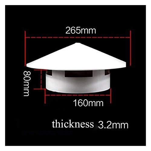 Dak Ventilatierooster, PVC Round Kanalen Ventilatiedeksel, Outlet Roosters Ademende Buis Eindkap Openingen Systeem (Color : 160cm)