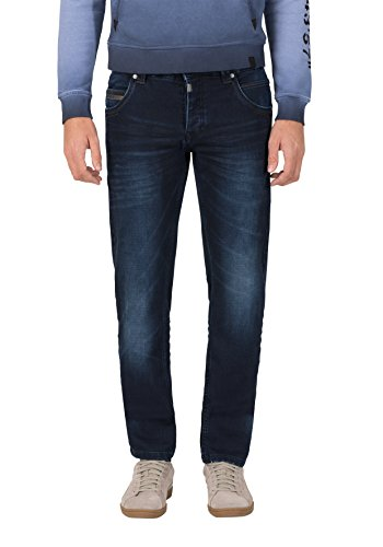 Timezone Herren Regular RyanTZ Straight Jeans, Blau (Blue-Black Wash 3202), W36/L34