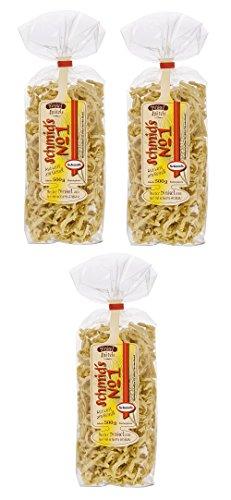 Schmids No.1, 3x Dinkelspätzle 500g, vorzüglich im Geschmack und herzhaft im Biss, passen besonders gut zu deftigen Gerichten