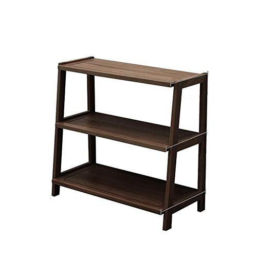Jcnfa-Shelves White Oak Shelves, Trapezoidal Bookshelf, 3-Tier Storage Rack Storage Rack, Bedroom, Living Room, Study, 3 Sizes (Color : Walnut, Size : 29.1312.9927.55 in)