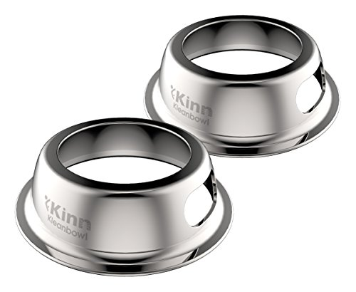 Kinn Kleanbowl – The Healthier, Planet-Friendly, Disposable Pet Bowl, 8oz (1 Cup) - 2 Pack, Stainless Steel (B2-KLB8-A1)