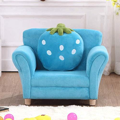 DIAOD Kinder-Sofa, Kindermöbel mit robusten Holzbau for Junge Mädchen, Armauflage Couch for Vorschulkinder, Leichten Kinder-Sofa-Stuhl (Color : B)