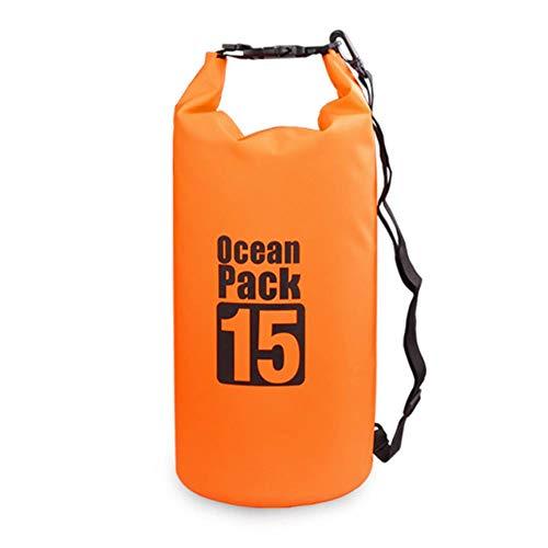 Sac de Natation extérieur Sac étanche étanche Sac à Dos Sac à Dos Rafting Rafting Big Bag River Randonnée, Orange 15L