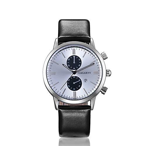 SJXIN schöne und stilvolle Uhr, CAGARNY Herrenuhr Mode Quarz Uhr Herrenuhr Mode Uhren (Color : 1)
