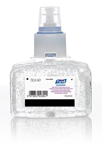 PURELL Advanced Hygienic Gel Alcohólico para Desinfección Higiénica de Manos, Recarga 700 ml LTX-7, 1303-03-EEU (3 Unidades)