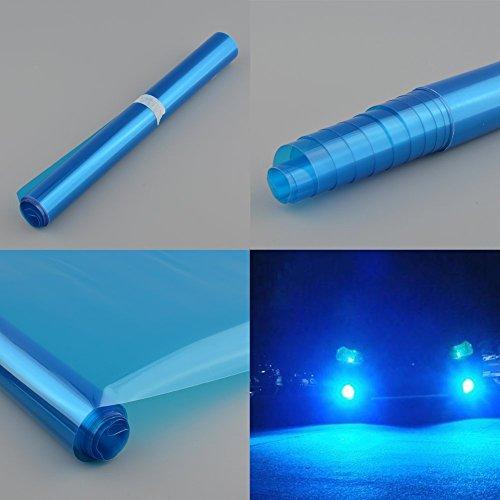 THG Auto Scheinwerfer Folie Tönungsfolie Aufkleber 120cm x 30cm Blau