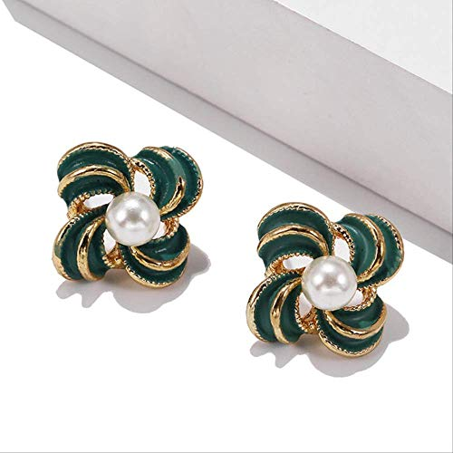 Sieraden voor vrouwenMeisje Kleine oorbellen Koreaanse stijlSnoepkleurBloem Parel Oorbellen Cadeau Sieraden Oorbellenez305lv