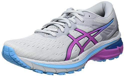 Asics GT-2000 9, Road Running Shoe Mujer, Piedmont Grey/Digital Grape, 39 EU