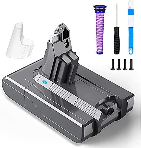 BuTure 3500mAh Batterie pour Dyson V6 DC59 DC58 DC58 DC61 DC62 DC72 DC74 Aspirateur à main Batterie de Remplacement avec 1 Remplace Filtre 1 Tournevis 1 Brosse de nettoyage