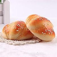YANHUA 8cm X7cm Smile Marshmallow Bun Deocration Squishy Buns Bread Fragrancy Shape Pendant Charm Phone Straps