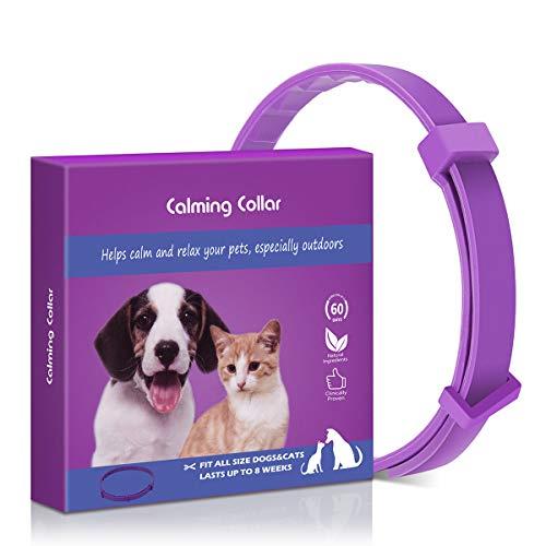 Sansoak Adjustable Anxiety Dog Cat Calming Collar, Nature Safe Waterproof...
